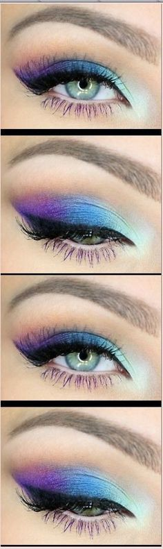 Eye make up blue and purple beauty style inspiration. Please choose cruelty free vegan products, brands and parent companies that don't test on animals or use animal derived ingredients or ingredients sourced from organizations that test on animals or do cruel experiments #ParentingTips