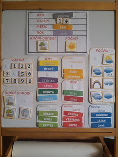 učení pojmů z kalendáře hravou formou