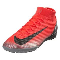 outlet store 7de91 b3de2 Nike Mercurial Superfly X 6 Academy CR7 TF Turf Shoes (Bright  Crimson Silver)