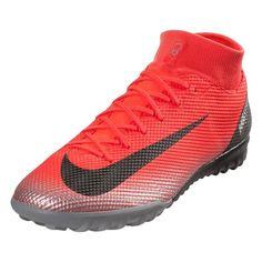 outlet store 7de91 b3de2 Nike Mercurial Superfly X 6 Academy CR7 TF Turf Shoes (Bright  Crimson Silver)