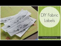 DIY Fabric Labels - YouTube
