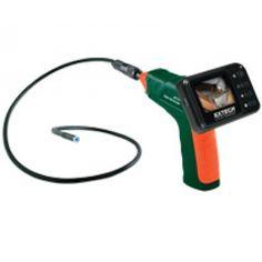 """http://termometer.dk/inspektionskamera-r12842/video-borescope-inspektion-kamera-53-BR150-r35484  Video Borescope Inspektion Kamera  39 """"(1m) fleksibel svanehals med vandtæt kamera (9mm diameter) og 4 indbyggede lyse LED-lys til belysning af mørke områder  Gooseneck kabel bevarer konfigureret form  Aftageligt display for nem opbevaring  Komplet med 9mm kamerahoved med kabel, 4 AA batterier, forlængelse værktøjer (spejl, krog, magnet), video output kabel, og hård bæretaske Garanti: 2 År..."""
