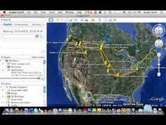 Google Lit Trip for creating virtual tours where a character's journey is plotted on Google Earth