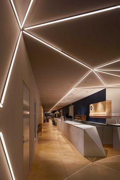 Interior Ceiling Design, Ceiling Light Design, Lobby Interior, Arch Interior, False Ceiling Design, Interior Lighting, Lighting Design, Gym Interior, Design Hall