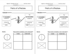 Introduction to Fractions-Interactive Notebook Page