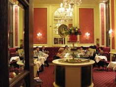 Cafe Sacher in Vienna - Beetje old fashioned, maar wel eentje om gedaan te hebben ; Cafe Restaurant, Vienna Hotel, Coffee Culture, Travel Design, Bakeries, Cafe Design, Coffee Shop, Tea Time, Places Ive Been