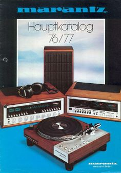 Marantz catalog cover, 1976/1977