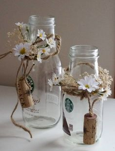 [Rustic Wedding table decorations daisy Centerpieces by AmoreBride Rustikale Hochzeit Tischdekoration Daisy Centerpieces von AmoreBride Simple Bridal Shower, Bridal Shower Flowers, Wedding Shower Favors, Bridal Shower Rustic, Bridal Shower Decorations, Rustic Wedding, Wedding Burlap, Table Wedding, Wedding Gifts