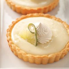 Lime Tartlets Recipe - I lightened it up with 1/2 fat sour cream and 5% cream (instead of heavy whipping) .... I also made them in muffin tins (decreased portion size - 1/2 batch = 4 muffin-sized tarts). Turned out great!