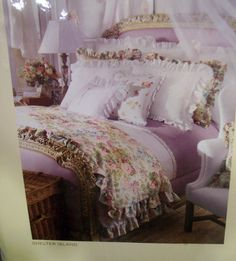 Beautiful bedding & colors.                        Ralph Lauren's Shelter Island Collection.