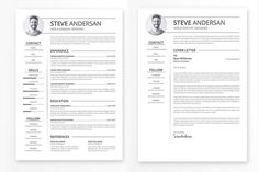 Elegant Clean  Resume Design Modern Trenddy And Clean Template