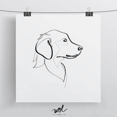 Golden Retriever Print, Original One Line Art, Minimal Dog Drawing by WithOneLine on Etsy https://www.etsy.com/listing/532712721/golden-retriever-print-original-one-line