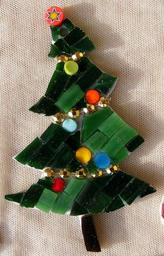 Mosaic Tree Christmas ornament -