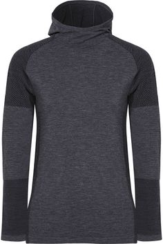 ADIDAS PERFORMANCE stylish Climaheat stretch-jersey hooded top