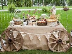 Свадьба в стиле рустик – для ценителей деревенской романтики