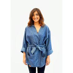 Kimono and blue color. Summer please!