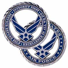 Air Force coins that combine traditional symbols and cutting-edge design. Find a wide inventory of top-quality USAF challenge coins on sale at Medals of America. Military Veterans, Military Life, Air Force Medals, Medals Of America, Air Force Mom, Coin Shop, Wounded Warrior, Challenge Coins, Challenges