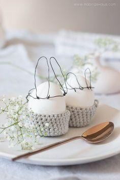 # easter #ideas #rabbit #eggs Last Minute DIY: Eierbecher häkeln für Ostern | Maditas Haus