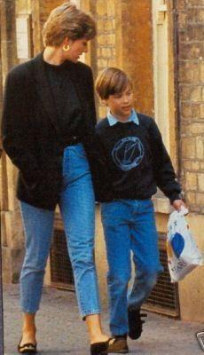 Princess Diana with Prince William.
