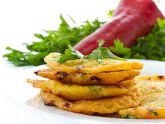 Sweet Potato Pancakes - Boiled, Peeled and Mashed Sweet Potato with Ground Cinnamon and Nutmeg