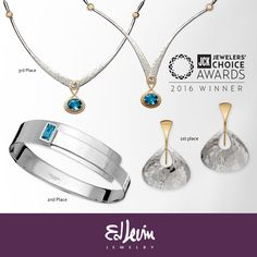Ed Levin Jewelry is proud to announce the Kauai Swing necklace, Fifth Avenue bracelet and Jamaica earrings are winners in the JCK Jewelers Choice Awards!