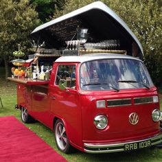 Dishfunctional Designs_ Awesome Repurposed and Revamped VW Volkswagen Van Food Trucks Volkswagen Transporter, Volkswagen Bus, Transporter T3, Mini Camper, Vw T1 Camper, Food Trucks, Kombi Food Truck, Vans Vw, Party Bus