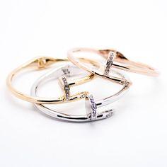 Nail hinged bangle bracelet – Imsmistyle.