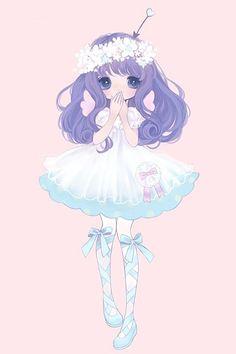 She's so cute and pretty! #Purple fluffy haaair