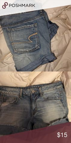 Shop Women's American Eagle Outfitters size 4 Jean Shorts at a discounted price at Poshmark. Description: Brand new! Never worn. just too big! Size Sold by tiff_curtis. American Eagle Shirts, American Eagle Sweater, Popular Girl, American Eagle Outfitters Shorts, Ladies Dress Design, Fashion Tips, Fashion Design, Fashion Trends, Jean Shorts
