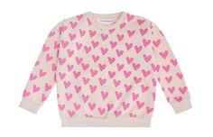 Ihana college-paita sydän-printillä