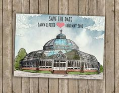 Sefton Palm House themed wedding stationery #wedding #illustration #liverpool #tattylashes