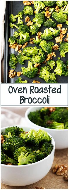 #Oven #Roasted #Broccoli with walnuts is a quick and #healthy side dish that everyone will love. It's crunchy, #nutty and takes less than 20 minutes to make! via @berlyskitchen