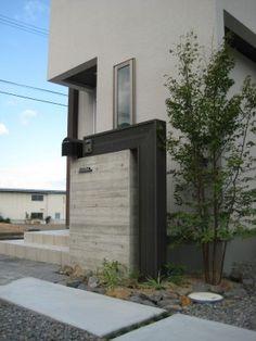 門柱 Contemporary Architecture, Architecture Design, Compound Wall, Boundary Walls, Entrance Foyer, Garden Items, Wall Cladding, Wall Design, Future House
