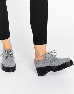 Image 1 - Monki - Chaussures à lacets et grosse semelle