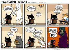 GaMER CaT. He's a cat. He plays video games. Episode 75- Cats.