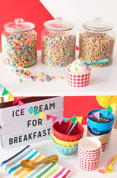 'Ice Cream for Breakfast' Day Party | Oh Happy Day!