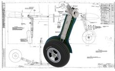 The Oleo undercarriage leg assembly with the Fairing. Interesting to note the brakes are Pneumatic, there is a inflatable bag in the Brake . 3d Cad Models, Scale Models, Image Avion, Aircraft Structure, Supermarine Spitfire, Landing Gear, Mechanical Design, Aircraft Design, Model Airplanes