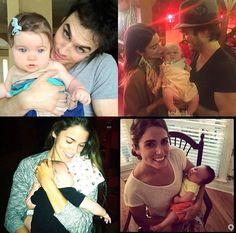 Ian and Nikki with babies