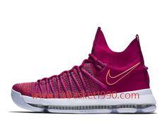 buy popular 01b02 14f4e Nike KD 9 Elite Racer Pink 878639_666 Chaussures Nike Prix Pas Cher Pour Homme  Rose Blanc