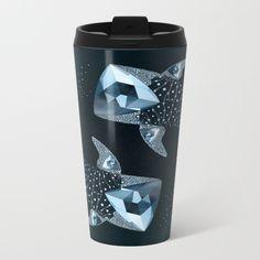 Whale Shark  -  Cornerupine (Trillion cut) Metal Travel Mug