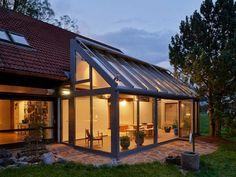 Glas Vinterhaver - Havestuer Udestuer - Hus Tilbygninger Producenter - billeder, tilbyggning, planering, design - www.solarlux.dk