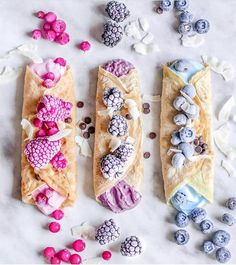 Crepes filled with pastel goodness @isiaaak Who else loves whipping up crepes, pancakes, waffles or smoothie bowls on the weekend? Shop our superfoods here: https://www.unicornsuperfoods.com/collections/all