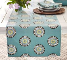 Elsa Medallion Table Runner #potterybarn
