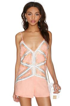 Nasty Gal Pretty Young Bling Romper - Rompers + Jumpsuits | 60% Off