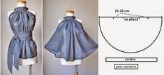 Gode BLUSA ~ Moda y consejos de costura I must of misses this one. Diy Clothing, Sewing Clothes, Clothing Patterns, Dress Patterns, Fashion Sewing, Diy Fashion, Ideias Fashion, Costura Fashion, Diy Kleidung
