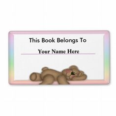 Personalize Book Labels for Kids