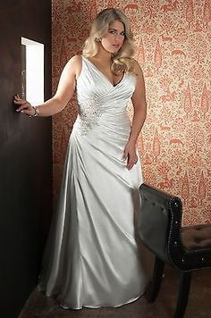 New Arrival Sexy Plus Size Wedding Dress Bridal Gown Custom 18 20 22 24