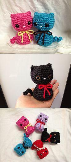 Кот амигуруми.