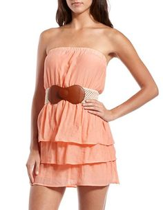 Tiered Woven Tube Dress, Charlotte Russe, $10.99