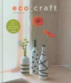 30 eco-friendly #DIY home decor projects in this book.  #Recycle your way to stylish home accents with this #craft collection!  $21.21